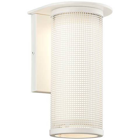 "Hive Collection 12 3/4"" High White Outdoor Wall Light"