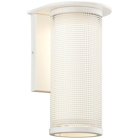 "Hive Collection 12 3/4"" High White LED Outdoor Wall Light"