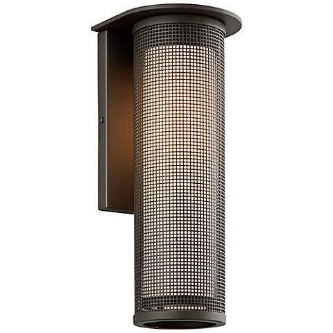 "Hive Collection 17"" High Bronze LED Outdoor Wall Light"
