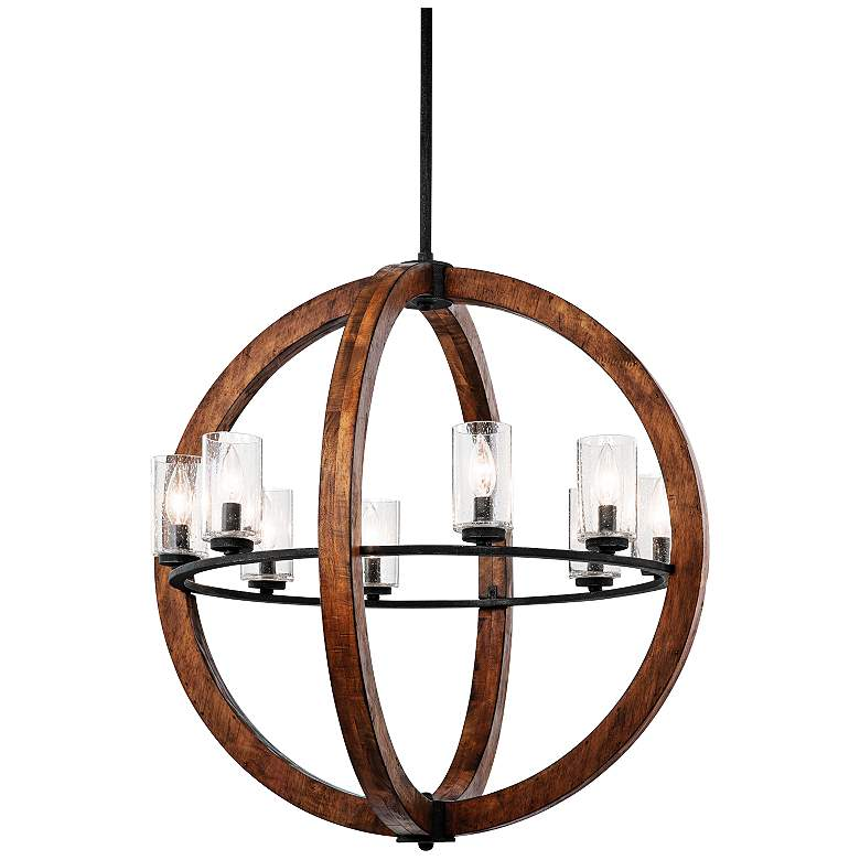 """Grand Bank 28"""" Wide Double Wood Chandelier by Kichler"""