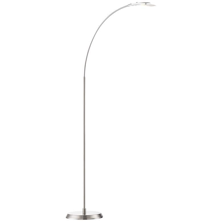 Salvo Satin Nickel Finish Modern Led Floor Lamp 2v798
