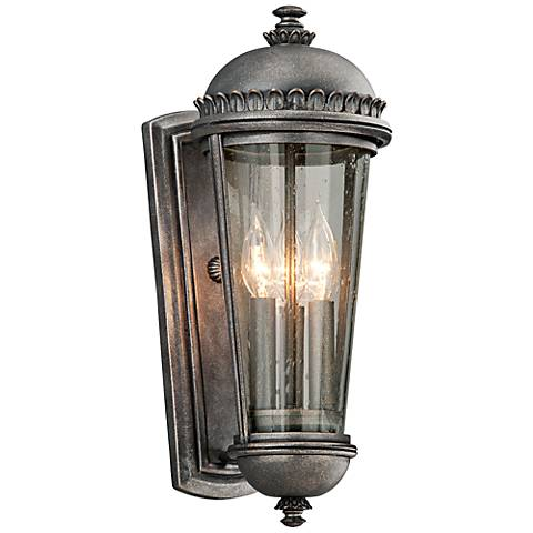 "Ambassador Collection 17 1/2"" High Pewter Outdoor Wall Light"