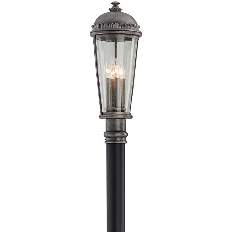 """Ambassador Collection 23 1/2"""" High Pewter Outdoor Post Light"""