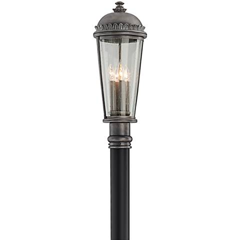 "Ambassador Collection 23 1/2"" High Pewter Outdoor Post Light"