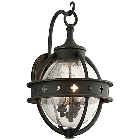 "Mendocino Collection 19"" High Black Outdoor Wall Light"