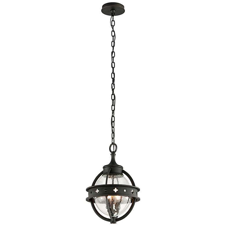 "Mendocino 18 1/4"" High Black Outdoor Hanging Light"