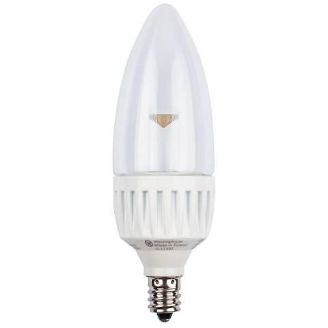 3.5 watt Torpedo LED Candelabra Base  Bulb
