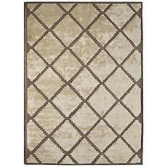 "Maison Taos 44181 Cream and Tan 8'11"" Wool Area Rug"
