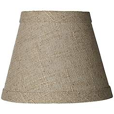 Clip on chandelier country cottage lamp shades lamps plus fine burlap empire shade 3x5x4 clip on aloadofball Gallery