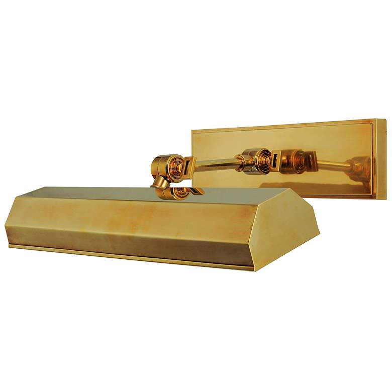 """Hudson Valley Woodbury 16"""" Wide Aged Brass Picture"""