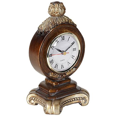 A la Mode Brown Table Clock