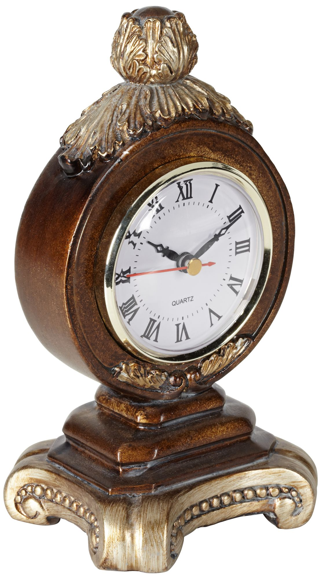 Charming A La Mode Brown Table Clock