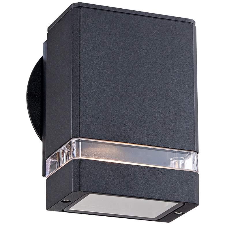 Possini Euro Ridgeland Black Rectangular Outdoor Wall Light