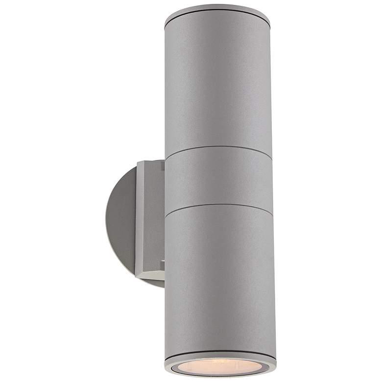 "Possini Euro Ellis 11 3/4"" High Silver Outdoor Wall Light"