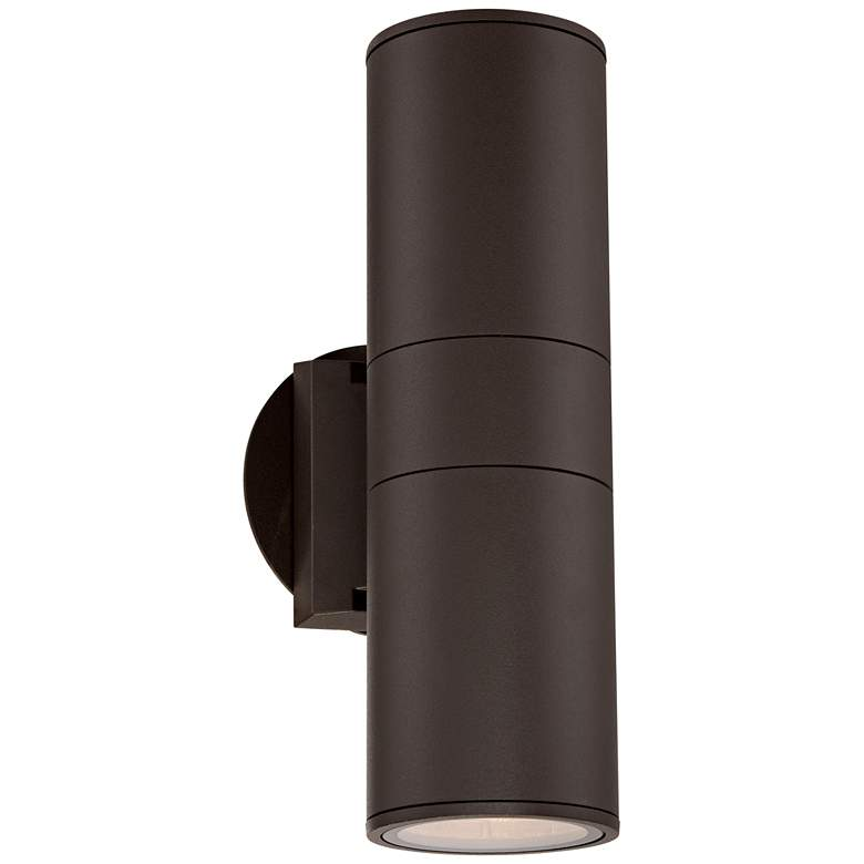 """Possini Euro Ellis 11 3/4""""H Brown Up-Down Outdoor Wall Light"""