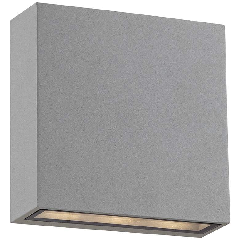 Stanford Silver Outdoor LED Wall Up and Downlight