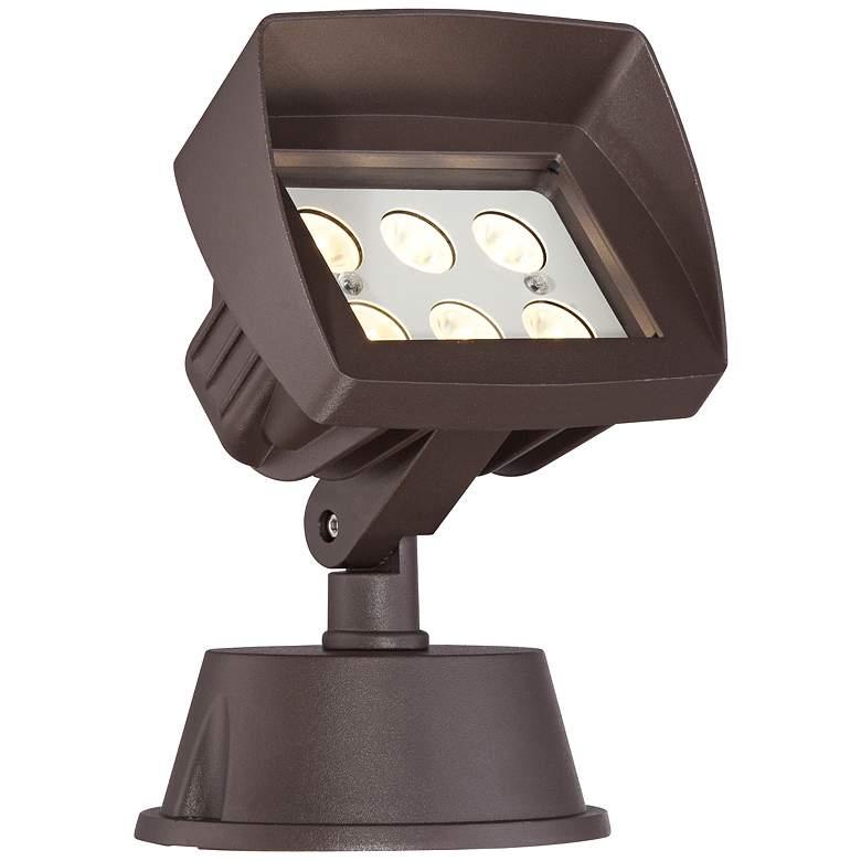 """Super Duty Eastham 8 1/8""""-H Bronze LED Landscape Flood Light"""