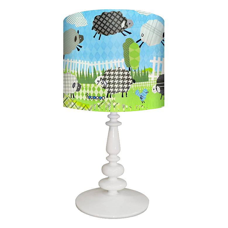 Oopsy Daisy Counting Sheep Blue Children's Table Lamp