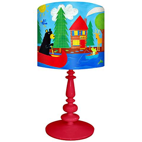 Oopsy Daisy Black Bear Lodge Children's Table Lamp