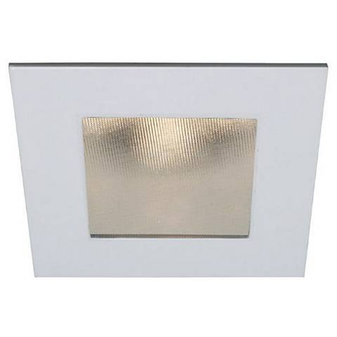 "4"" WAC 15 Watt LED Square Shower Recessed Retrofit Trim"