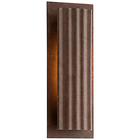 "Dwell Country Rust 16 3/4"" High LED Outdoor Wall Light"