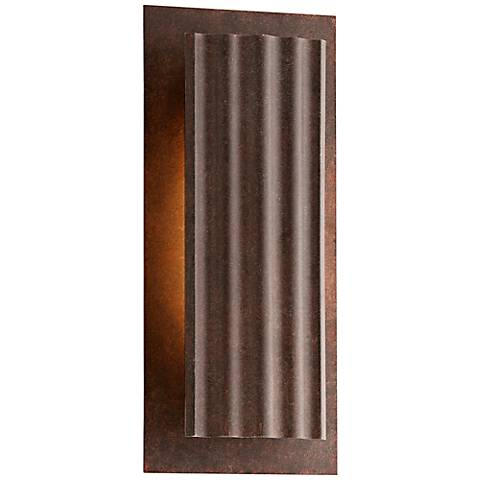 """Dwell Country Rust 13 3/4"""" High LED Outdoor Wall Light"""
