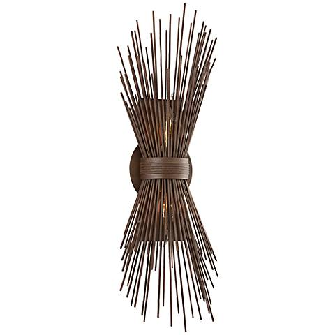 """Uni Collection 22"""" High Tide Pool Bronze Wall Sconce"""