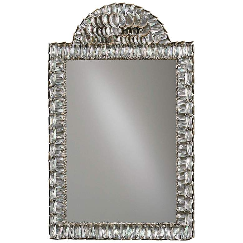 """Currey And Company Abalone 21"""" x 34"""" Shell Wall Mirror"""