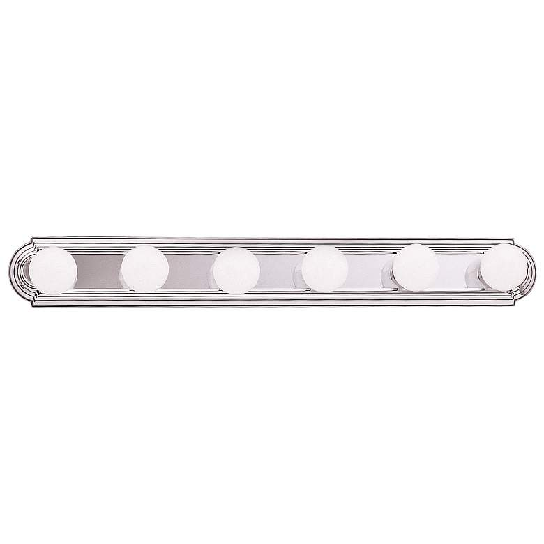 "Kichler McGuire 36"" Wide Chrome 6-Light Linear Bath"