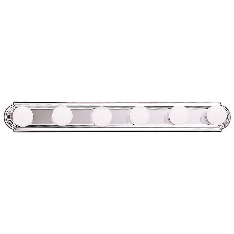 "Kichler McGuire 36"" Wide Chrome 6-Light Linear Bath Light"
