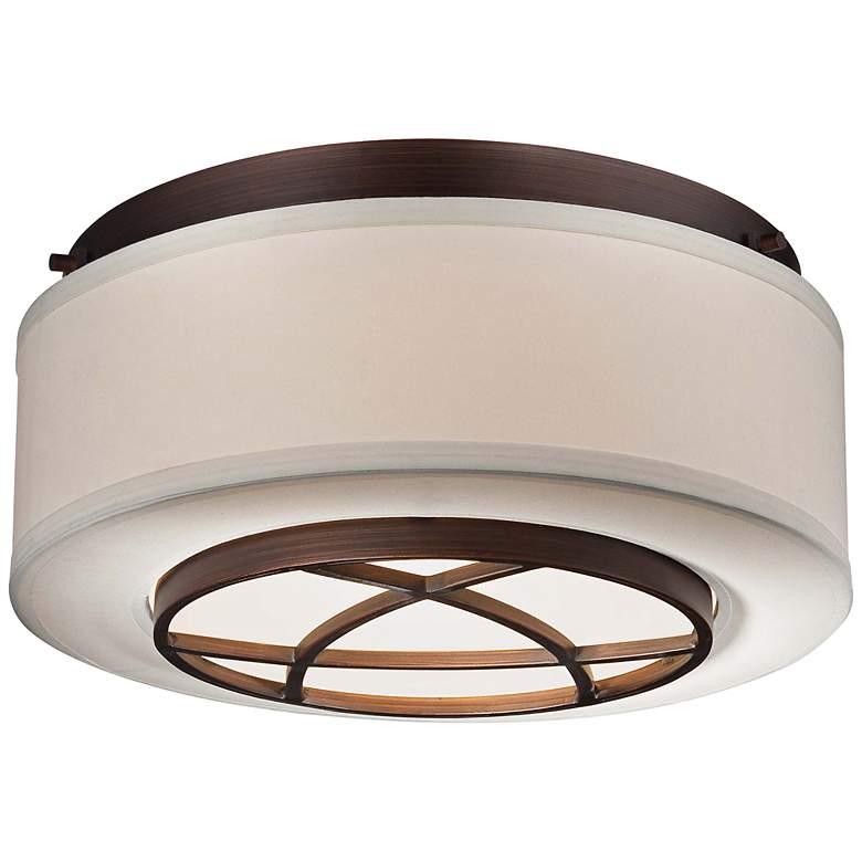 "City Club 15"" Wide Brushed Bronze Flushmount Ceiling Light"