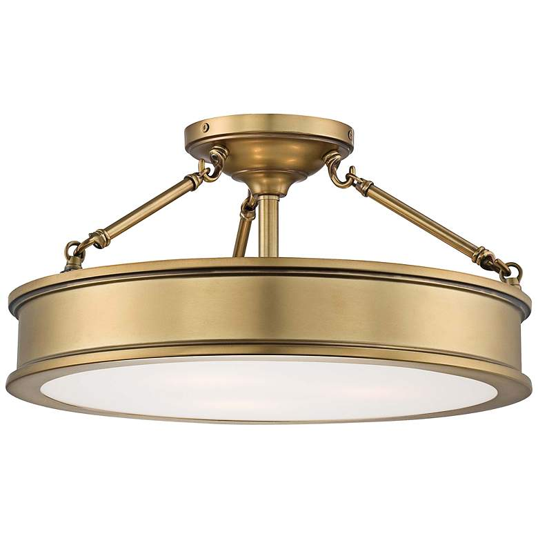 """Harbour Point 19"""" Wide Liberty Gold Ceiling Light"""