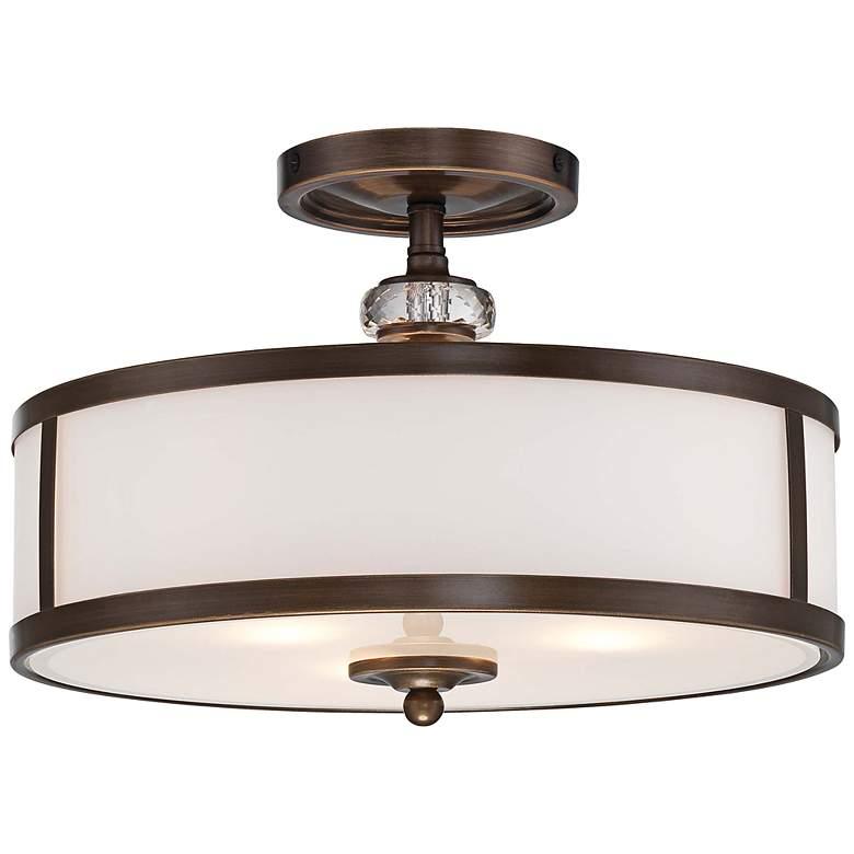 "Thorndale 15"" Wide Dark Noble Bronze Ceiling Light"