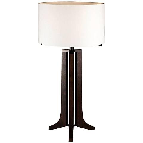 Cerno Forma Oiled Walnut LED Table Lamp
