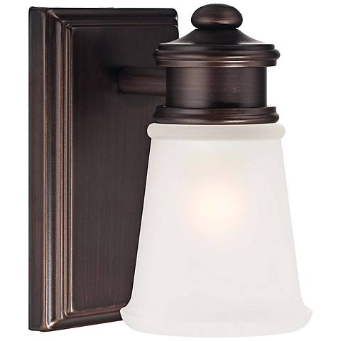 "Transitional 5 3/4"" High Brushed Bronze Wall Sconce"