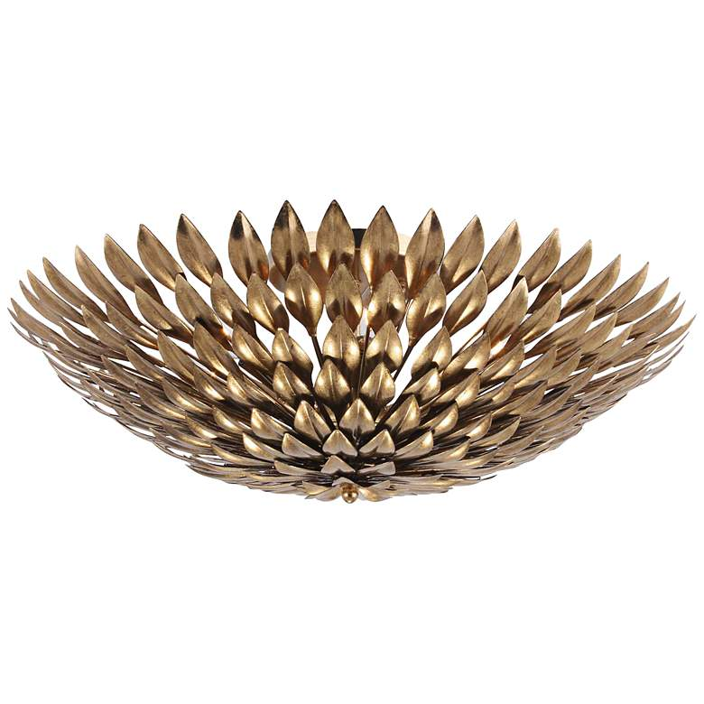 """Crystorama Broche 23 3/4"""" Wide Antique Gold Ceiling Light"""