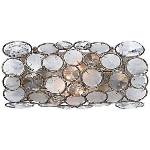 """Crystorama Palla 12"""" Wide Antique Silver Wall Sconce"""