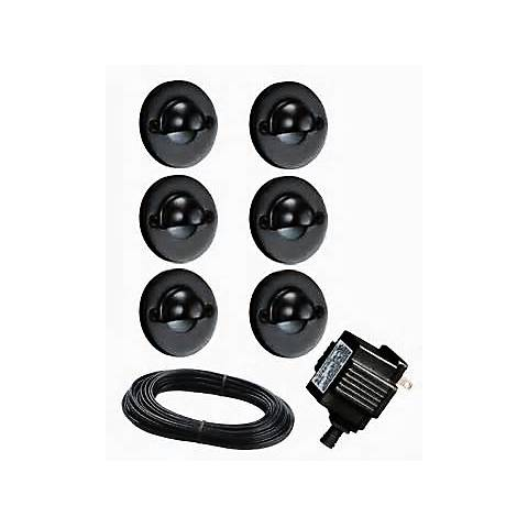 Portman Set of 6 Low Voltage Black LED Deck Lights
