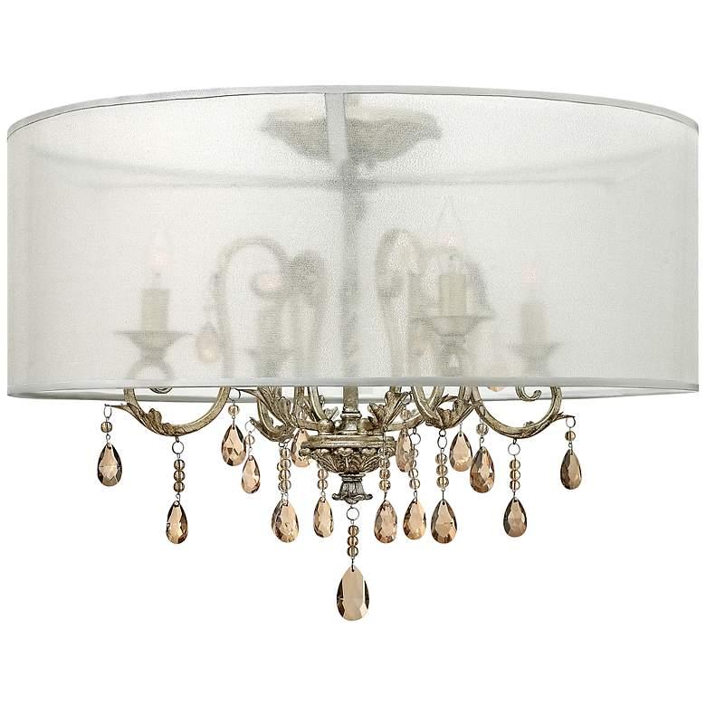 "Hinkley Carlton 24"" Wide Silver Leaf Ceiling Light"