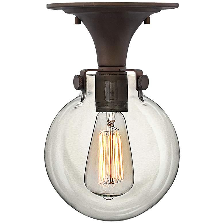 "Hinkley Congress 10 3/4""W Clear Glass Bronze Ceiling Light"