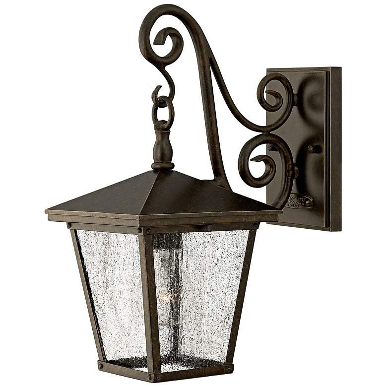 "Hinkley Trellis 15 1/4"" High Bronze Outdoor Wall Lantern"