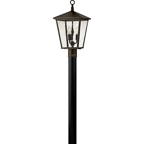 "Hinkley Trellis 21"" High Bronze Outdoor Post Light"