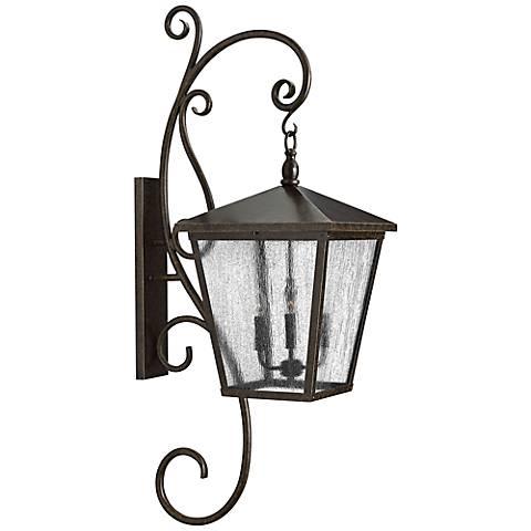 "Hinkley Trellis 52"" High Bronze Outdoor Wall Lantern"