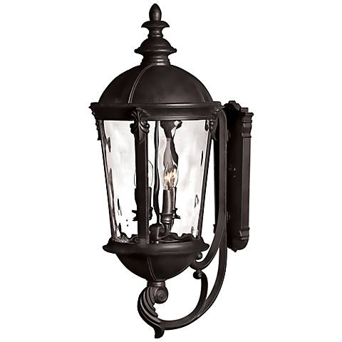 "Hinkley Windsor 32"" High Black Outdoor Wall Lantern"