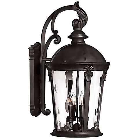 "Hinkley Windsor 25 3/4"" High Black Outdoor Wall Lantern"