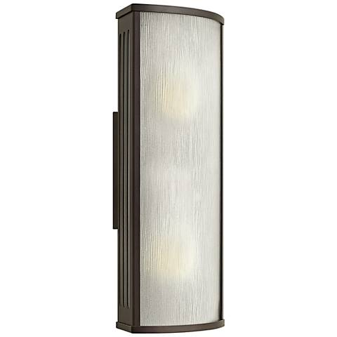 "Hinkley District 18"" High Bronze Outdoor Wall Light"