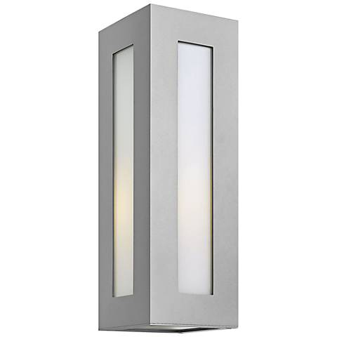 "Hinkley Dorian 18 1/4"" High Titanium Outdoor Wall Light"