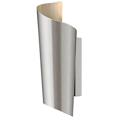 """Hinkley Surf 15"""" High Stainless Steel Outdoor Wall Light"""