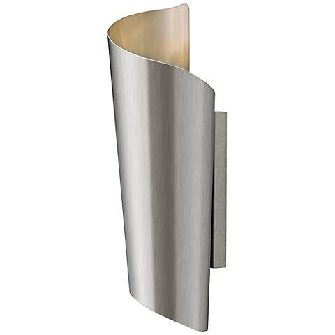 "Hinkley Surf 19"" High Stainless Steel Outdoor Wall Light"
