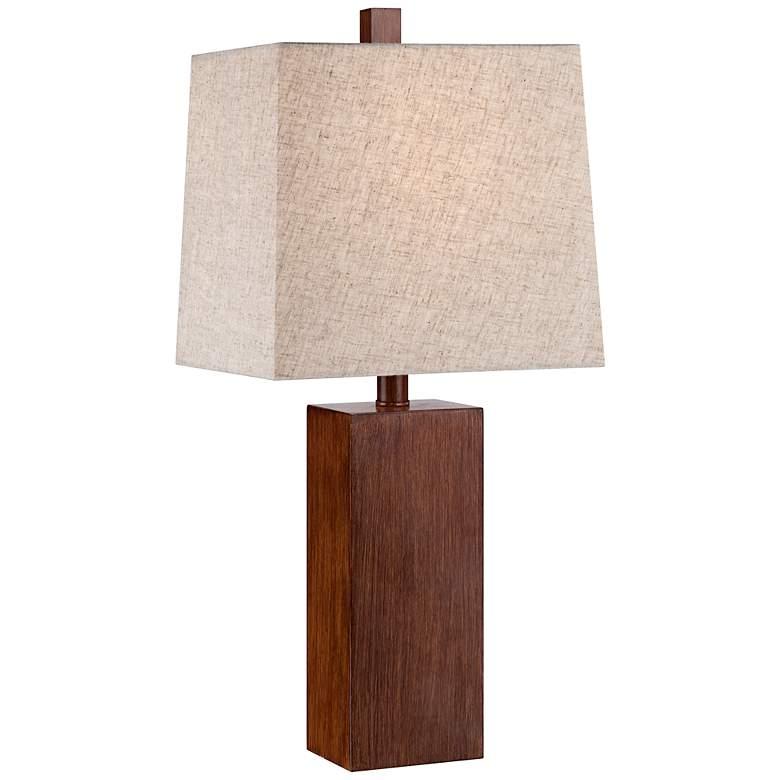 Darryl Wood Finish Rectangular Table Lamp